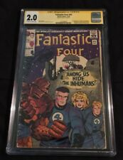Fantastic Four #45 SIGNED STAN LEE cgc ss 2.0 autograph 1st inhumans marvel