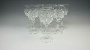 Lot of 8 Cris D'Arques Crystal DEAUVILLE Claret Wine Glasses EX