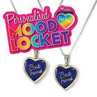 2 x Girls Kids Best Friends Colour Change Mood Locket Necklace Gift Set PML5