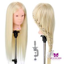 Übungskopf 26'' 50% Echthaar Friseurkopf Makeup Mannequin Styling Trainingskopf