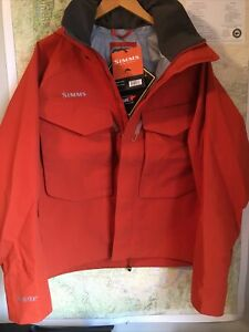 SIMMS Fishing Products Gore Tex Guide Jacket XL Orange