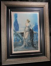 """Beautiful Authentic LOUIS ICART """"Werther"""" Colored Etching ca.1928 Signed w/Cert"""