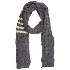 Thom Browne wool scarf men MKS073A 00278 Shadow Grey shawl stole
