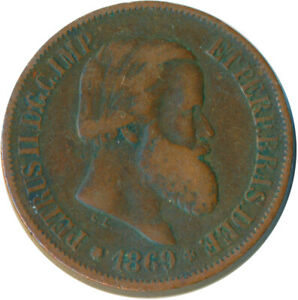 COIN / BRAZIL / 20 REIS 1869 / PETRUS II.    #WT5469