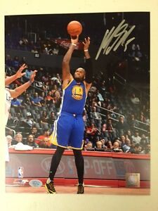 Marreese Speights Golden State Warriors Auto 8x10 (Shooting) 2015 NBA Champs