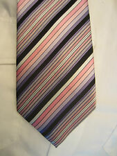 RAEL BROOK PURPLE PINK STRIPED 3.5 INCH POLYESTER NECK TIE