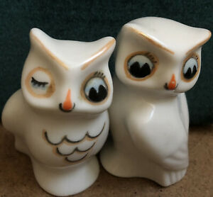 Vintage  Cute  kitsch ornament Two Owls..c1950