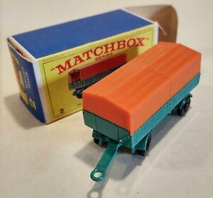 2-D Near MINT!! w/E4 Box Mercedes Trailer Lesney Matchbox circa '68