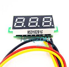 5pcs Mini DC 0-100V Yellow LED 3-Digital Display Voltage Voltmeter Panel Motor