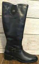 Bussola Black Leather Inside Zipper Knee High Riding Boots Womens Size 40-9.5