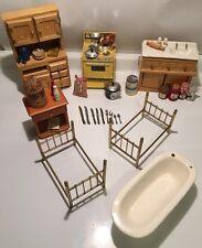 Huge Vintage Miniature Dollhouse Furniture Lot- 38 Pieces