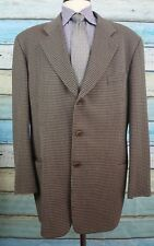 MANI 46L Wool Brown And Black Geometric Single Breasted 3 Button Mens  Blazer