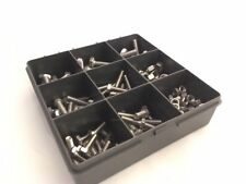 Assorted M6 M8 A4 316 Marine Stainless Steel Hex Head SetScrew Bolts Nuts 180pcs