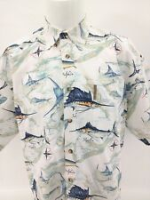 CLEARWATER OUTFITTERS Marlin Sailfish Dolphin Short Sleeve Shirt Mens Size XL