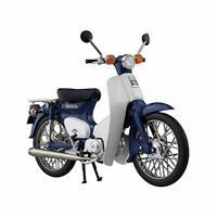 Aoshima Skynet 1/12 Finished Goods Bike HONDA Super Cub 50 Blue w/ Tracking NEW