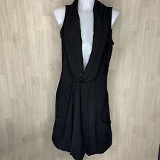 Mais il est ou le Soleil • Sleeveless Black Cowl Layering Tunic Dress • Size 12