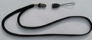 2 Black Quick Release NECK LANYARD ~ STRAP for USB/Thumb Drives ~ Detachable end