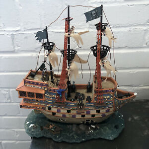 LEMAX Spooky Town Collection LIGHTED GHOST GALLEON pirate ship WORKS