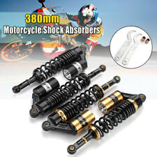 Pair 15'' 380mm Rear Air Shock Absorber Suspension For ATV Motorcycle Dirt Bike