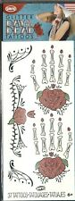 Rose Hands Arms Day of the Dead Skull Temporary Tattoo Cosplay NR