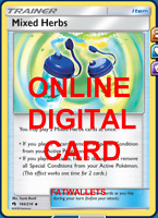 4X Mixed Herbs 184/214 Lost Thunder Pokemon TCG Online Digital Card
