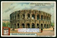 Roman Empire Arena In Nimes France Ruins Rome c1908 Trade Ad Card