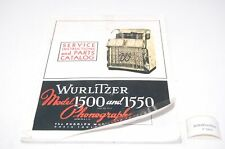 Wurlitzer Model 1500 und 1550 Manual Jukebox (P5401)