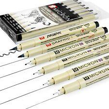 Sakura Pigma Micron Pigment Fineliner Pens - 01/03/05/08/Graphic/Brush- Black