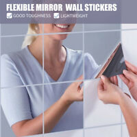 16Pcs Mirror Wall Stickers Bedroom Bathroom Home Decor DIY Self-adhesive 15CM