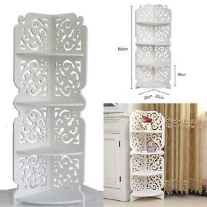 4Tier Bathroom Wooden Shelf Cabinet Cupboard Bedroom Storage Unit Free Standing