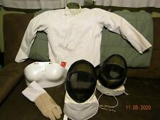 Fencing Gear 2 Helmet Mask , Chest Protector , Glove, Jacket