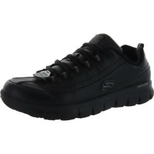 Skechers Womens Black Work Shoes Sneakers 11 Extra Wide (E+, WW) BHFO 3602