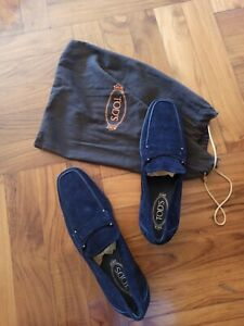 Mocassino TOD'S blue Camoscio Taglia 8.1/2
