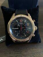 Weil & Harburg Peake Swiss Chronograph Quartz Leather Watch - NIB