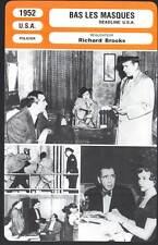 BAS LES MASQUES - Barrymore,Bogart,Brooks (Fiche Cinéma mod.B) 1952 - Deadline