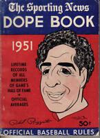 1951 Sporting News, Baseball Dope Book, magazine, Phil Rizzuto, New York Yankees