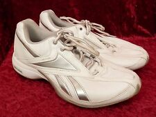 Reebok Running Shoes 2J21480 Traintone White Silver Leather womens size 4