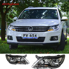 For vw tiguan Headlights assembly 2010 2011 Projector LED DRL 【Halogen Upgrade】