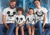 Mickey Mouse Family Matching T shirt DAD MUM CUSTOM Disney Land Holiday Tees