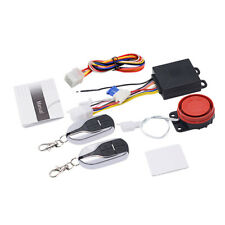 Set of Motorcycle Motorbike Alarm System Immobiliser Remote Control Security