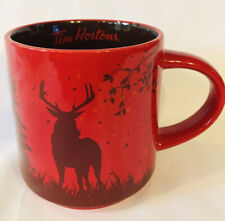 Tim Hortons Deer Buck Limited Edition Red Holiday Coffee Mug Cup 2017 Animal