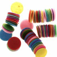 100 PCS Round Felt Fabric Pad Accessory Patches Circle Fabric for flower/hat