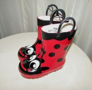 WESTERN CHIEF LADYBUG toddler 6 rain boots red NEW NWT So cute! waterproof