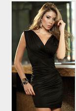 Women Girls Dance Party Explosion sexy black hip nightclub dress queen Clubwear