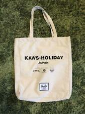 KAWS HOLIDAY JAPAN White Tote bag Mount Fuji Limited Herschel collaboration F/S