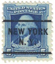 5c George Washington 1932 Stamp Precancel, No Gum