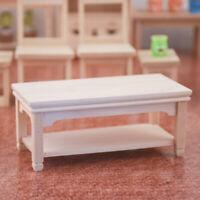 1:12 Scale Wooden Tea Table Dollhouse Miniatures Furniture Living Room Decor