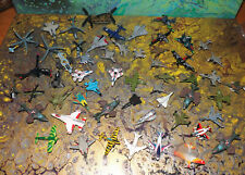 Vintage 1987 thru 1990's Micro Machine Planes & Helicopters Huge Lot of 55