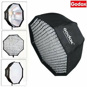 "Godox 80cm / 32"" Octagon Umbrella Flash Speedlight Softbox & Grid For Studio"