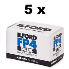 Ilford FP4 Plus 125 Black & White 35mm Film 36 exposure, Pack of 5, FREE P&P